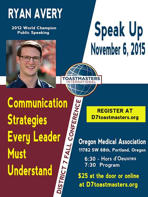 SPEAK UP - An evening with Ryan Avery @ Oregon Medical Association | Tigard | Oregon | United States