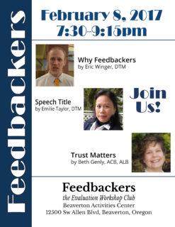 Feedbackers Special Event @ Beaverton Activities Center | Beaverton | Oregon | United States