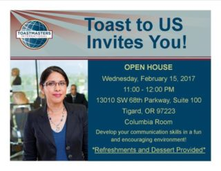 Toast to US - Open House @ US Bank - Columbia Room |  |  |